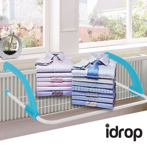 idrop Foldable Multifunction Shelf Drying Racks Household Storage Clothes Hanger