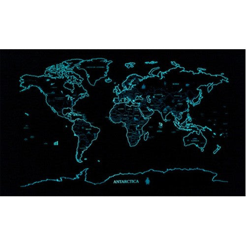... Glow In The Dark Scratch World Map Wall Sticker Part 63