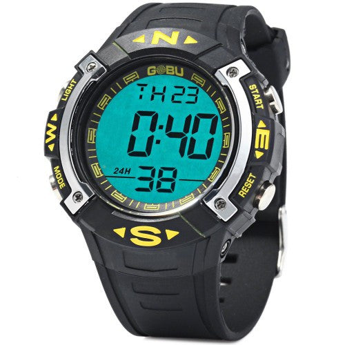 GOBU 1587 Water Resistance Men LED Sports Watch