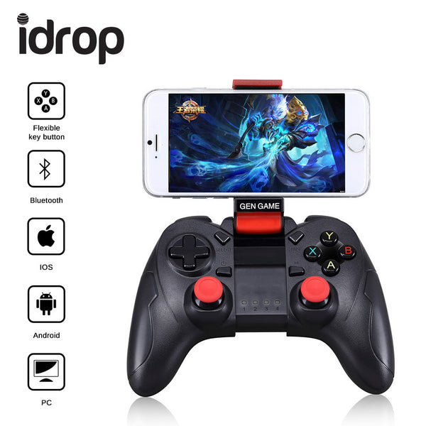 idrop S6 Wireless Bluetooth Controller Gamepad Game Console for Android / IOS / PC / PS4