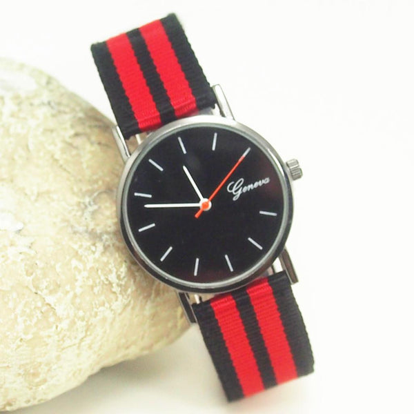 Genova Fabric Strap Watch (color send randomly)