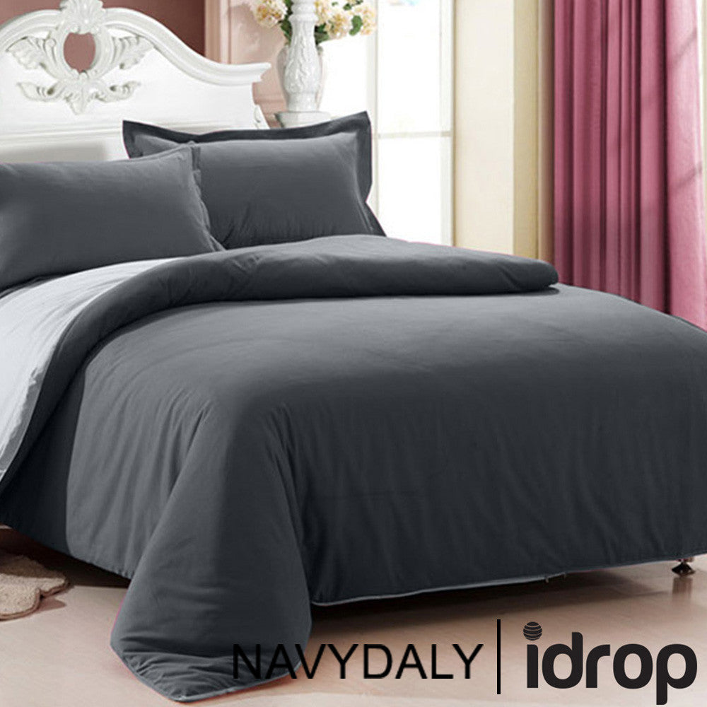 ... NAVYDALY Fitted Bed Sheet Queen Set (Fitted Bed Sheet , Bolster, ...
