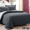 NAVYDALY Fitted Bed sheet King Set  (Fitted bed sheet , Quilt cover , Pillowcases )