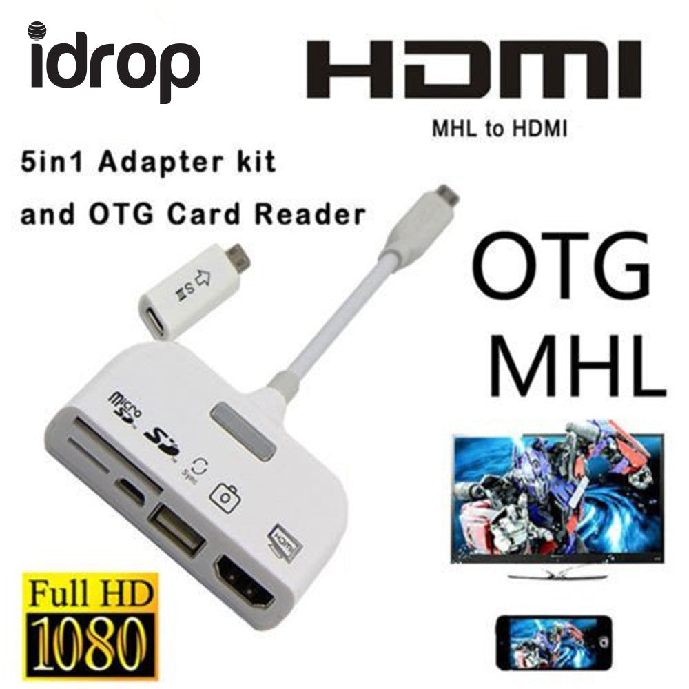 Mhl To Hdmi Connection Kit Usb Otg Card Reader Adapter 5 In 1 Wiring Diagram Color