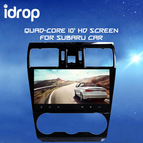 idrop Quad-core 10' HD screen Android 4.5 Car DVD GPS Navigation Bluetooth Wifi DVR 1080P for SUBARU CAR