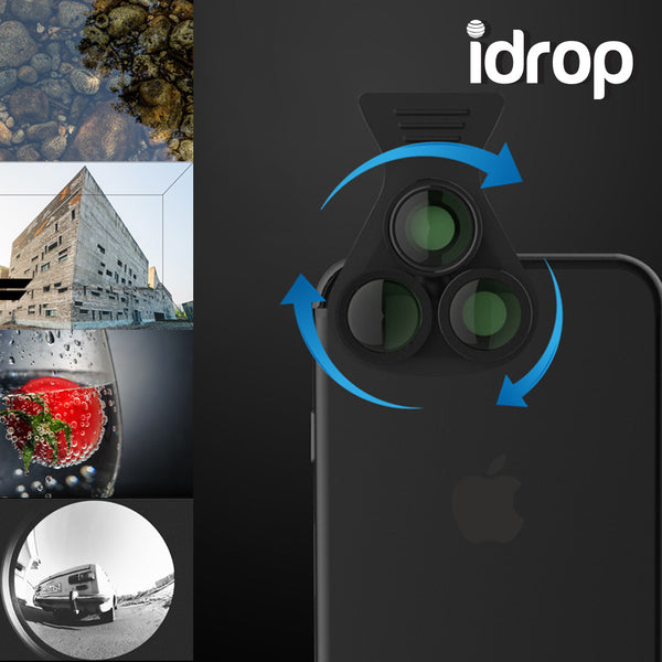 idrop 4 IN 1 External SLR Lens HE-518 mobile phone lens wide-angle macro fish eyes