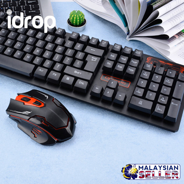 2.4g Wireless Gaming  Keyboard and Mouse Set