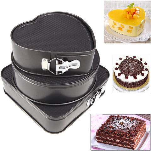 3 in 1 Removable Springform Pans Cake Mold Metal Bake Mould Bakeware