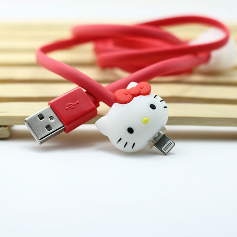 Cartoon Cat Lightning Cable Set