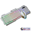 idrop K38 Wired USB Gaming Rainbow LED Backlit Keyboard and Mouse Set