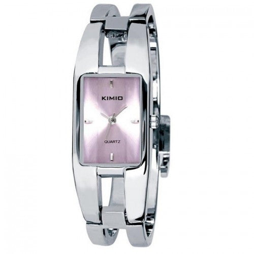 KIMIO Luxury Lady Bracelet Changing Color Stainless Steel Band Watch