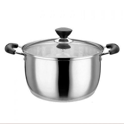 Korean Style Stainless Steel Stockpot With Handle - 20CM