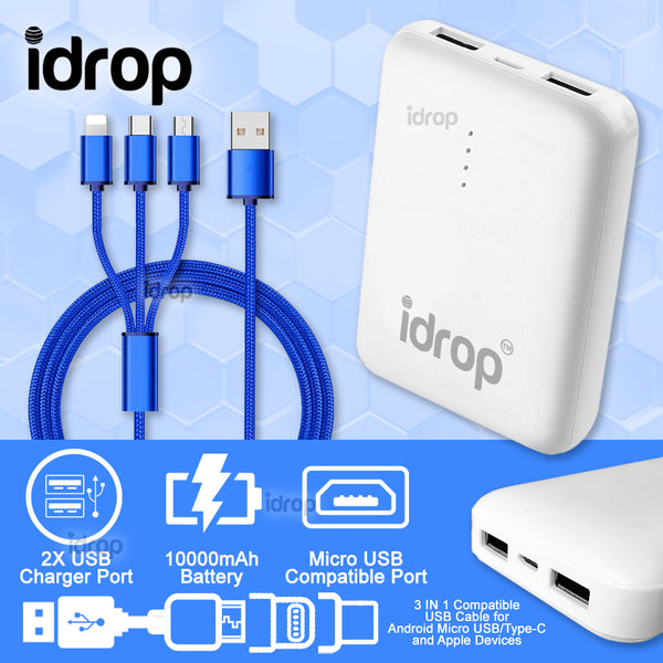 idrop MEYOU 10000mAh 2 IN 1 Fast Charge Powerbank DC5-0~2A