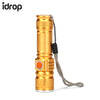 idrop LED Flashlight with USB Charging T6 High Power LED Outdoor Activities