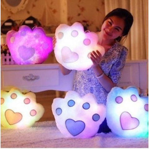 LED Luminous Pillow - Paw Print