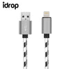idrop Cable Charging Data Transfer 1 Meter Nylon Braided LIGHTNING to USB Charging Cable