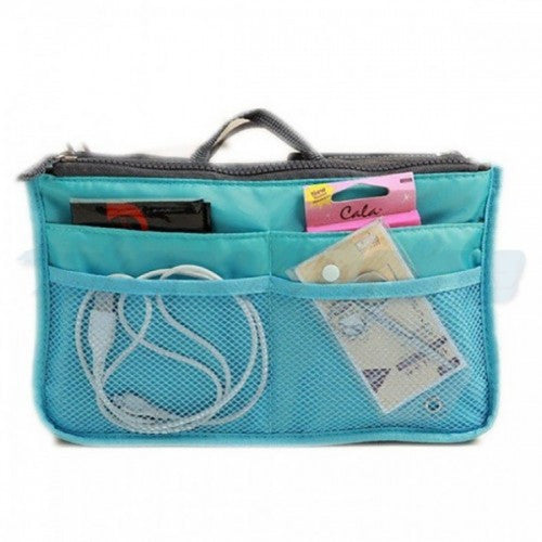 Lightweight and Water-Resistant Multi-Compartment BAG IN BAG Organizer (Random)