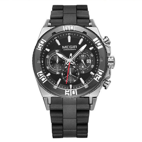 MEGIR 3009 Hot Chronograph Sport Watches For Men 2015 Fashion Luminous Running Quartz Watch Man Wristwatch Male