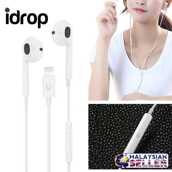 idrop ML715 Wired In-Ear Earphone Mic Volume Headphone  with Lightning Connector