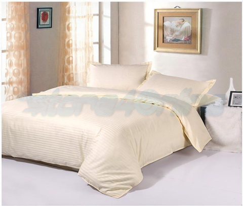Monochrome Fitted Bedsheet Set with Quilt Cover with 5 Colour-King