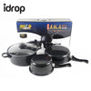 idrop Set of 3 Multifunctional Cookware Set , Pot, Pan, Milk Pot, Cover