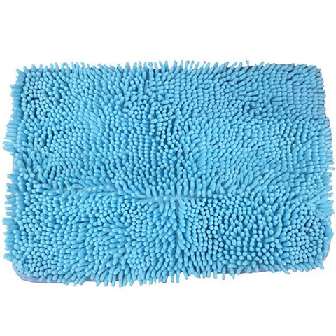 Microfiber Floor/Bathroom Mat with Slip Resistant Base - Long Hair Random Colour