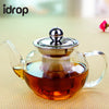idrop Glass Teapot with Stainless Steel Lid