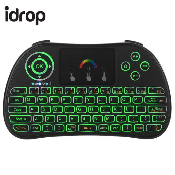 idrop P9 2.4GHz Wireless  Mini Keyboard with Touchpad Mouse For TV BOX PS3 360 PC