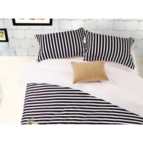 Modern Striped Bed Sheet Set