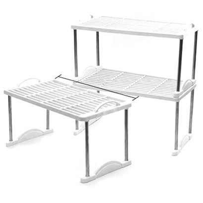 Multi Functional 3-Tier Storage Rack - White