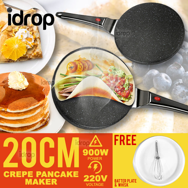 idrop 20CM Non-stick Electric Crepe & Pancake Maker Kitchen Cooking Pan