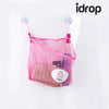 idrop  Folding Hanging Mesh Bath Toy Storage Net Bag Bathroom Organiser Net