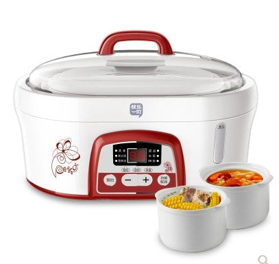 idrop 1.6L Hydropower Electric Slow Cooker Stew Pot [ DDZ-901 ] ( White )