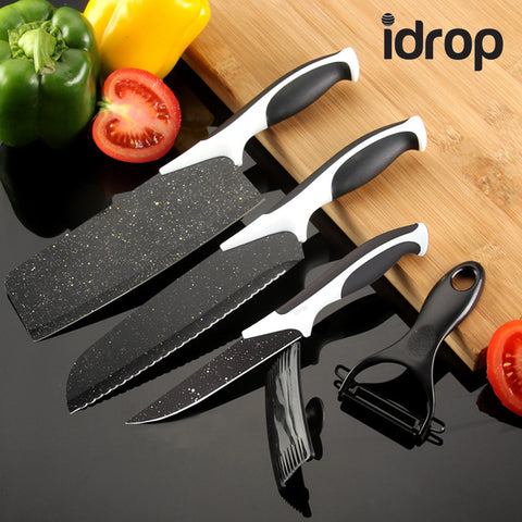 idrop 5 Set Kitchen Knife & Cutting Accessories For Kitchen Cutting, Chopping and Slicing