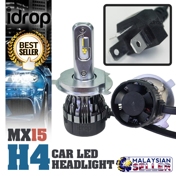 1 set MX15 H4 Car LED Headlight Driving Light Bulbs Hi/Lo Beam White 6000K ( Double Bulbs)