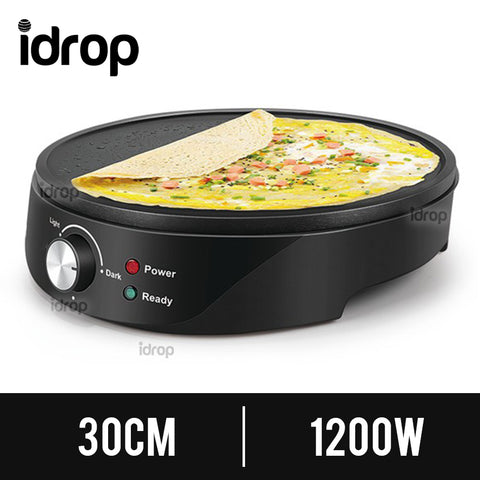 idrop 30CM Electric Pancake Omelette Cooking Flat Pan [ 1200W ]