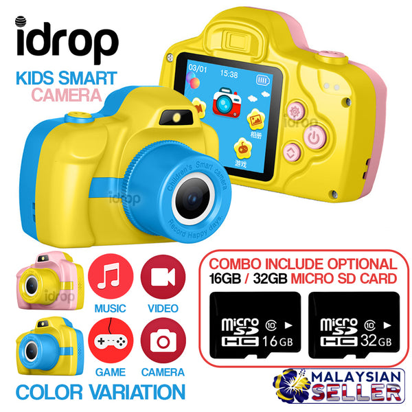 idrop Kid's Smart Camera + Micro SD Card [ 16GB / 32GB ]