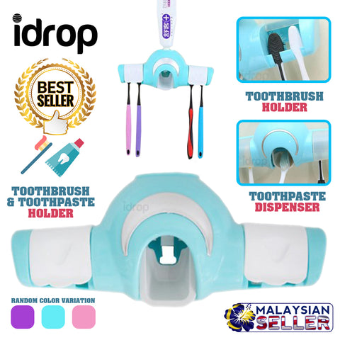 idrop Toothbrush Toothpaste Holder Dispenser
