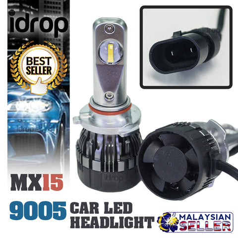 1 set MX15 9005 Car LED Headlight Driving Light Bulbs Hi/Lo Beam White 6000K