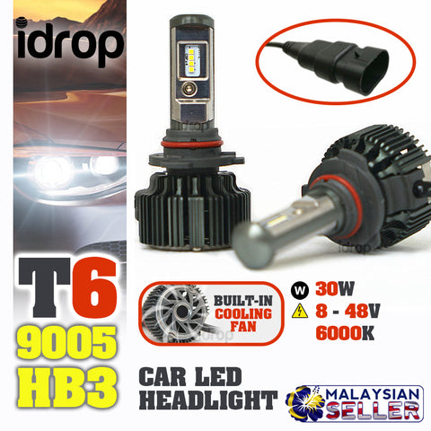 TURBO LED T6 [ 9005 (HB3) ] - Car Headlight Hi/Lo Beam 30W EMC 8-48V 6000K