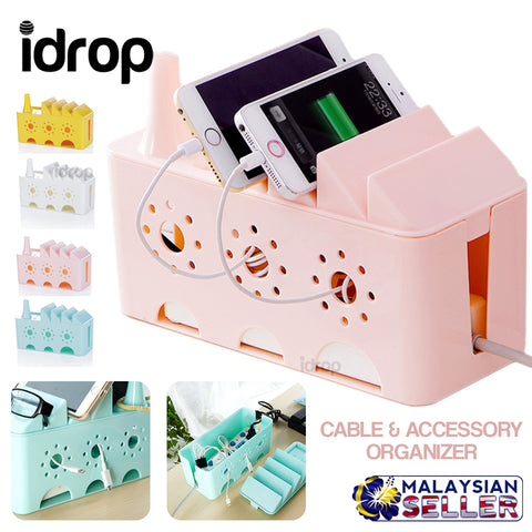 idrop Power Cord Socket Extension Cable Wire Accessory Organizer