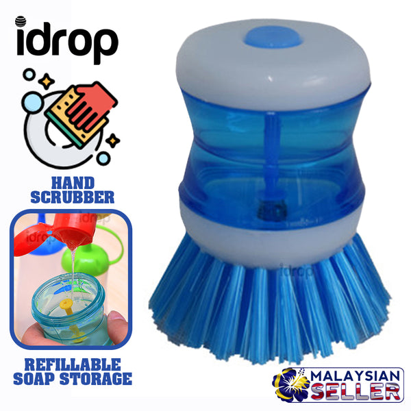 idrop Hand Scrubber with Soap Refill Storage