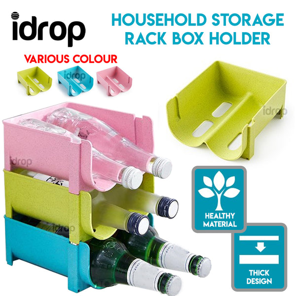 idrop 1pcs Bottle Cans Stacked Storage Rack Holder