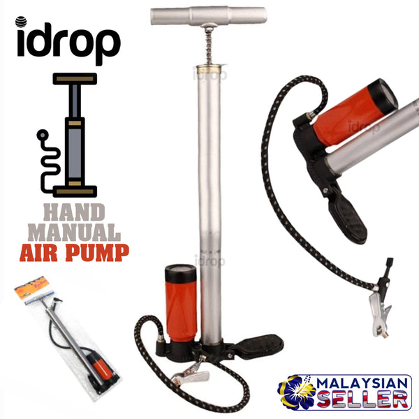 idrop Bicycle Hand Manual Tyre Air Pump