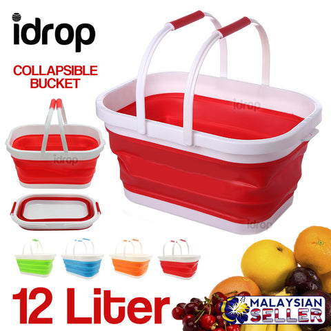 idrop 12L Rectangular Collapsible Bucket