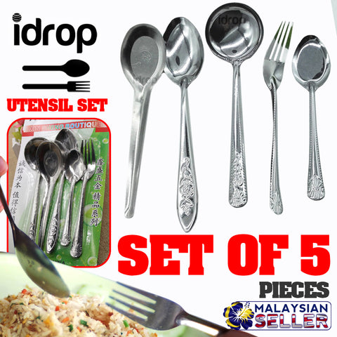 idrop 5pcs Eating Utensil Set [ XIN SHENG BOUTIQUE ]