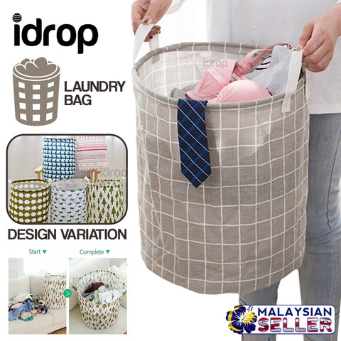 idrop Washable Cloth Fabric Laundry Bag
