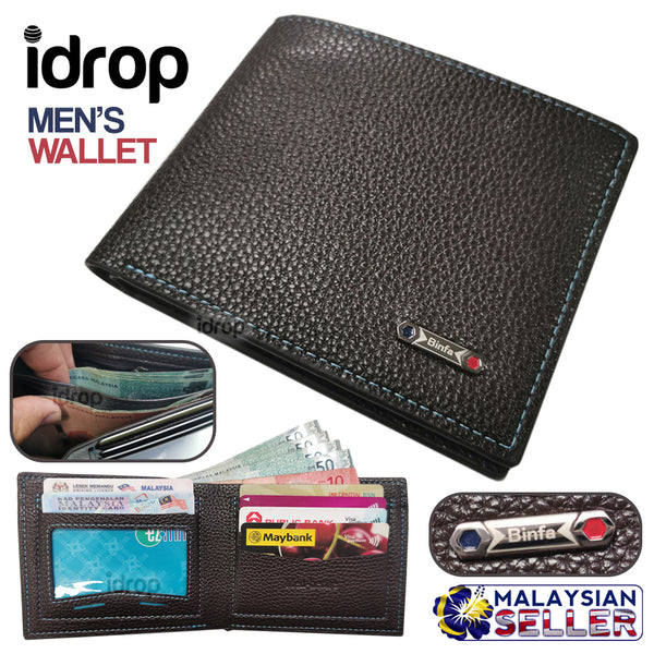 idrop Men-bense Binfa  Men's Fold Wallet [ PU 999-5 ]