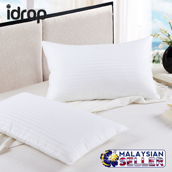 idrop Fashion & Comfortable Pillow | Comfort White Standard Striped Pillow [ 2pcs ]
