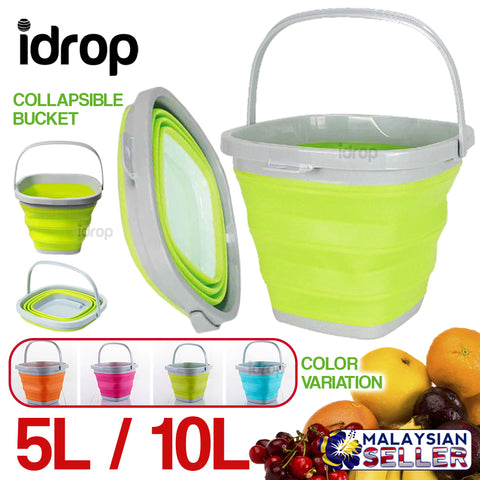 idrop 5L / 10L Square Collapsible Bucket
